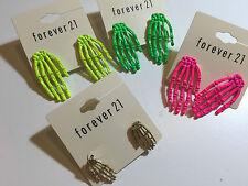 NEON colours SKELETON HAND Earring stud for halloween 4 colours SKULL