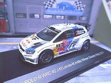 VW VOLKSWAGEN Polo WRC Sweden 2014 Winner Rallye #2 Latvala Bull IXO WB SP 1:43