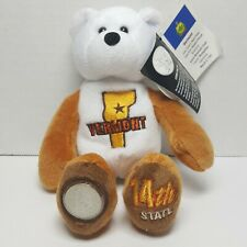 Vermont Limited Treasures Coin Bear Beanie State Quarter #14 Retired Mint