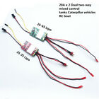 20Ax2 Brushed ESC Dual two-way Speed Controller RC Boat tanks 380 550 775 2s-6s