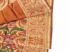 Omsaihome Vintage Multipurpose Brown Thread Woven Sewing Fabric Piece,M-181