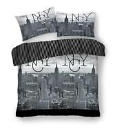 King Size Bedding Set Pillow Case Reversible Quilt Duvet Cover | Modern Grey NYC