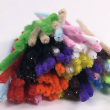 Coloured Pipe cleaners 100 Pack Chenille Craft Stems Assorted Colours Short