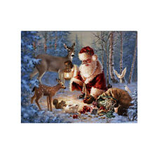 Diy 5D Diamond Embroidery Painting Santa Claus Cross Stitch Art Christmas Decor