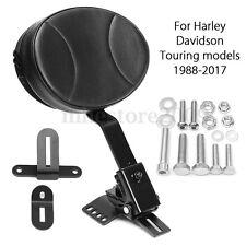 Driver Rider Backrest Pad Cushion For Harley Davidson Touring models 1988-2017