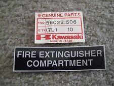 KAWASAKI JET SKI JS550/JS440/JS300/300SX FIRE EXTINGUISHER LABEL/DECAL NOS!