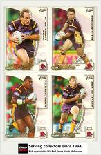 2002 Select NRL Challenge Series Base Card Team Set BRISBANE BRONCOS(12)