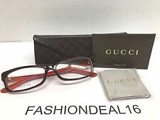 New GUCCI Authentic w/TAGS Havana Red GG3599/F L9C 56mm Optical Eyeglasses