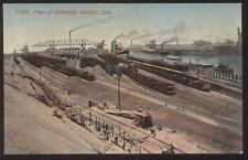 Postcard ASHTABULA Ohio/OH  Harbor Railroad Loading Yard Aerial view 1907