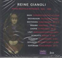 REINE GIANOLI Bach Beethoven Brahms Chopin Liszt Scarlatti Schubert Schuman 2CD