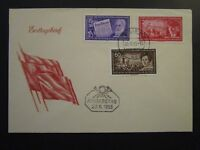 Germany DDR SC# 246, 247, & 250 1955 FDC / Unaddressed / Cacheted - Z4546