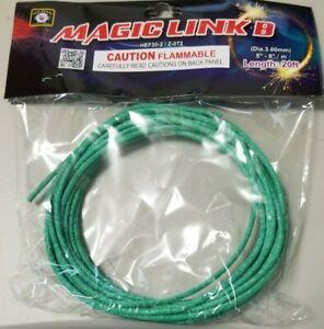 MAGIC LINK B Cannon Hobby Green 20' Feet Fuse 3.0mm Diameter Thick Heavy