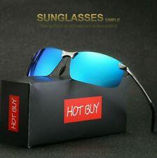 TAC HD Polarized Sunglasses Men Women Driving Sports Aviator Glasses Metal Frame