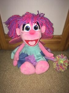 """Official Sesame Street Abby Cadabby 15"""" Soft Plush Toy In EX Condition"""