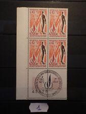 Bloc 4 timbres Yt 1781 Mi 1861 (1973) Neufs MNH ** Cachet 1er Jour FDC Marges