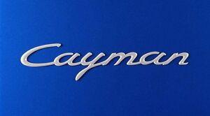 New Genuine Porsche 987C Cayman Satin Aluminium Script Rear Badge