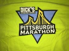 Adult Men's Large Asics Pittsburgh Marathon Volunteer T-Shirt, Neon Yellow Green