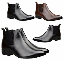 Mens Chelsea Boots Winter Ankle Italian Leather Smart Formal Wedding Shoes Size