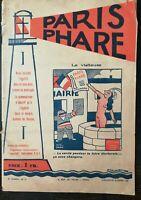 Rare Magazine Paris Headlight Dimanche 25 Mars 1928 Number 13 La Visiteuse