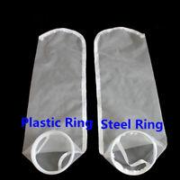 "7"" or 4"" Filter Sock Bag Nylon Mesh NMO Water Liquid Aquarium Plastic/Steel Ring"