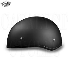 Daytona Skull Cap Half Shell Motorcycle Helmet Slim Line DOT Helmet (ALL SIZES)