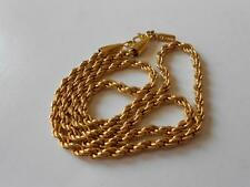 Vintage Monet Gold Tone Chain Necklace Patented 19-1/2""