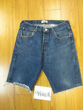 "Levis used 501 high waisted cut off shorts Tag 35"" Meas 31"" Inseam 11.5"" 9840R"