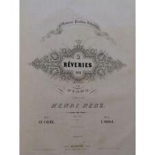 HERZ Henri Pièces pour Piano ca1830 partition sheet music score