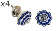 4x Set Meuble Boutons de Rétro Vintage Antique Céramique Design