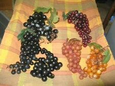 Vintage Realistic Fake Artificial Grapes Rubber