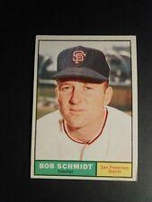 1961 TOPPS BASEBALL #31 BOB SCHMIDT    SAN FRANCISCO GIANTS