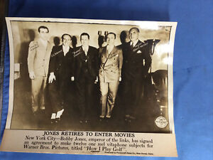 1930 Bobby Jones Warner Brothers Picture Press Photo HOW I PLAY GOLF series