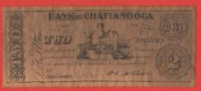 Confederate Civil War 1863 Bank of Chattanooga $2 Replica