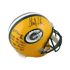 Sterling Sharpe Stats Autographed Green Bay Packers F/S Football Helmet BAS COA