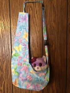 Blue Butterfly Puppy Shoulder Bag Carrier Dog Pet Carols Crate Covers