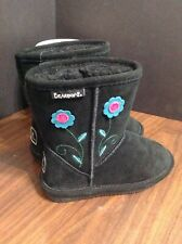 Bear paw, Buttercup, Toddler, Size 12, Suede Sheepskin Boots Black