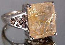 Rutilquarz, Anhänger+Ring (Gr.17), 925er Silber, Juwelo, mit Zertifikat