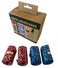 Dog Poo Scented Biodegradable Poop Bags, Leak Proof Pet Waste Bag