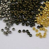 Quality Rondelle Crimp End Finding Stopper Spacer Beads For DIY Jewelry Making