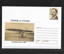 O) 2000 ROMANIA. PIONER OF AVIATION - TRAIAN VUIA, POSTAL STATIONERY, UNUSED