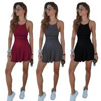 Hot Women Summer Casual Sleeveless Evening Party Beach Short Mini Skater Dress