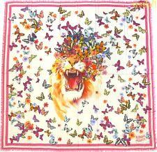 "ALEXANDER MCQUEEN pink BUTTERFLY ROAR modal/silk 54""-square scarf NEW Auth $530!"