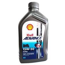 Olio motore moto Shell Advance Ultra 15W50 4T API SM / JASO MA2 - 1 Litro