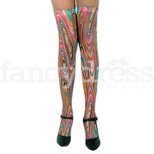 Hippy Hippie Stockings Socks Hold Ups Fancy Dress Accessory 70's 80's Retro NEW