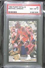 1992 Fleer Total D #5 Michael Jordan PSA 8