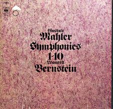 15 LP Box MAHLER 10 Symphonies BERNSTEIN CBS GM-15 London SO NY PO $4 Shipping