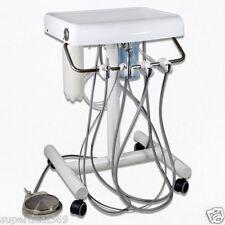 Dental Portable Unit Delivery Mobile Cart Lab Equipment + Fiber Optic Tubes