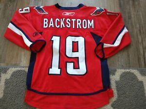L/XL YOUTH Reebok NHL Washington Capitals Nicholas Backstrom Jersey RED