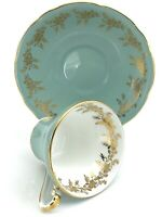 Turquoise Aynsley Porcelain Teacup Made in England Tea Cup China Vintage K247