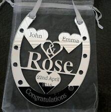 Beautifull Wedding day gift, Horse Shoe Personalised Gift . Mr & Mrs .